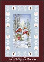 Snowflakes and Snowman Quilt Pattern CJC-53951