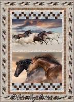 Racing Horses Twin Quilt Pattern CJC-54165