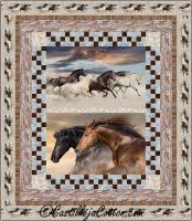 Racing Horses Queen Quilt Pattern CJC-54166