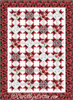 Paris and Poppies Lap Quilt Pattern CJC-54202