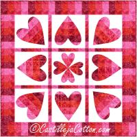 Pivoting Hearts Quilt Pattern CJC-54361