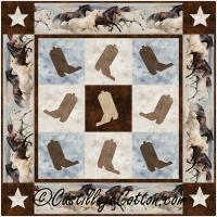 Boots and Horses Wall Quilt Pattern CJC-54571