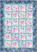 Cone and Wisteria Flowers Quilt Pattern CJC-54751