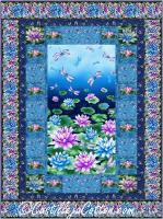 Water Lilies and Dragonflies Quilt Pattern CJC-55141