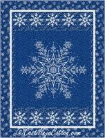 Shimmer Snowflake Quilt Pattern CJC-55221