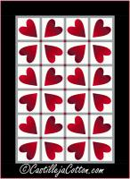 Twisting Hearts Quilt Pattern CJC-55372