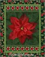 Holiday Poinsettia Red Quilt Pattern CJC-55502