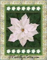 Holiday Poinsettia White Quilt Pattern CJC-55503