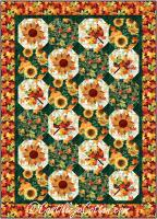 Leaves and Sunflower Quilt Pattern CJC-55611