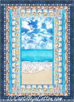 Seashells and Beach Quilt Pattern CJC-55671