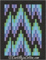 Metallic Northern Lights Quilt Pattern CJC-56021