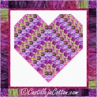 Floral Heart Wall Hanging Pattern CJC-56291