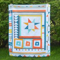 Wonk Around the Block Quilt Pattern CMW-105