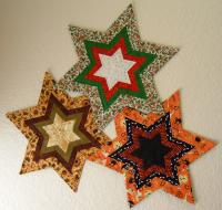 Fancy Star Candle Mat Pattern CPW-103