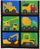 Construction Vehicles Quilt Pattern CQ-139