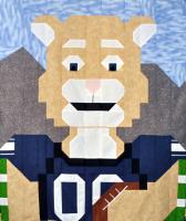 Football Cougar Quilt Pattern CQ-C004