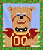 Football Bulldog Quilt Pattern CQ-E004