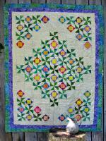 Scrappy Pinwheel Flowers Quilt Pattern CTG-014