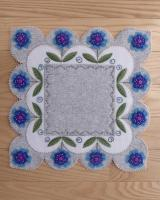 Blooms In Blue Table Mat Pattern DBM-031
