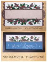 Winter's Mantel: Table Mat or Framed Wall Decor Pattern DBM-037