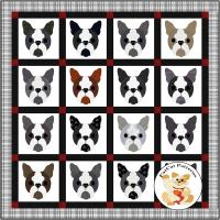Dog Days, Boston Terrier Quilt Pattern FCP-085