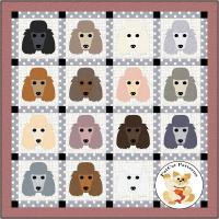 Dog Days, Poodle Quilt Pattern FCP-086