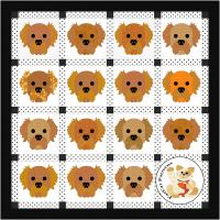 Dog Days, Golden Retriever Quilt Pattern FCP-087