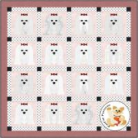 Dog Days, Maltese Quilt Pattern FCP-088