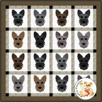 Dog Days, Scottish Terrier Quilt Pattern FCP-092
