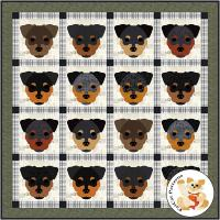 Dog Days, Rottweiler Quilt Pattern FCP-093