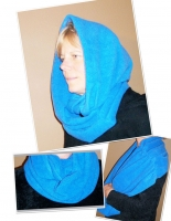 3 in 1 Fleece Infinity Scarf Pattern FGD-712
