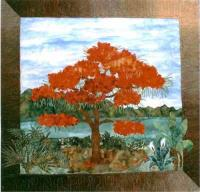 Flamboyant Tree Quilt Pattern FID-918