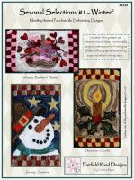Seasonal Selections #1 - Winter Punchneedle Embroidery Pattern FRD-1316