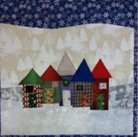 Christmas Row Houses Quilt Pattern FREE-157e
