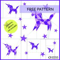 Unicorns Origami Animals Collection Quilt Pattern FREE-AC015ENe