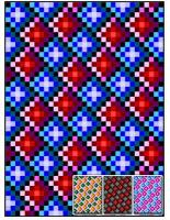 FREE 3D Checkers Quilt Pattern FREE-RMT03e