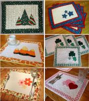 Seasonal Placemats: Sets 1 & 2 Pattern HBD-105