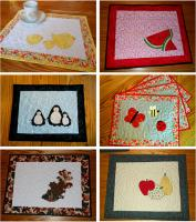 Seasonal Placemats: Sets 3 & 4 Pattern HBD-106