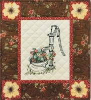 Flowers of Abbington Pickets Wall Hanging Pattern HCH-053