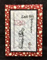 Lest We Forget Wall Hanging Pattern HCH-069