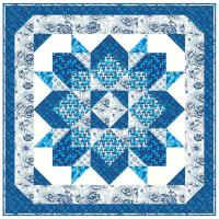 Crystal Blue Quilt Pattern HHQ-7360