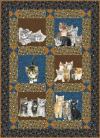 Kitten Play Quilt Pattern HHQ-7369