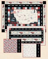 Mother Road Wall Quilt, Runner, & Placemats Pattern HHQ-7464