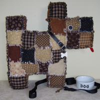 Patchwork Puppy Pillow Pattern JMI-209
