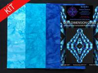 Deep Dimension Cubes Quilt Kit-Blue KWA-115K
