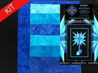 Luminous Cross Quilt Kit-Blue KWA-116K