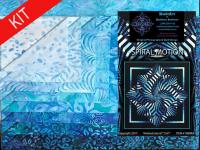 Spiral Motion Quilt Kit-Blue KWA-119K