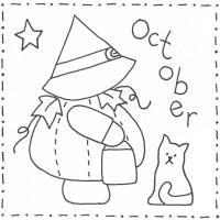 Sunbonnet Sue BOM - October Stitchery Pattern LQC-S10
