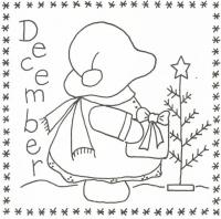 Sunbonnet Sue BOM - December Stitchery Pattern LQC-S12