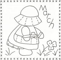 Sunbonnet Sue BOM - March Stitchery Pattern LQC-S3